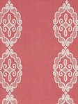 Ткань для штор Rue-Royale-Coral Linen Embroidery And Appliques Beacon Hill