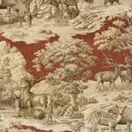 Ткань для штор FERGUSON GARNET 002 Hunting Story Galleria Arben