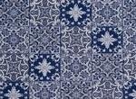 Ткань для штор HL-AZULEJOS 001 BLUE Balenciaga Galleria Arben