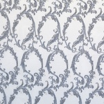 Ткань для штор LEVERN DARK GREY Paisley Galleria Arben