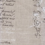 Ткань для штор MANUSCRIT VOILE 001 LIN Carrousel Galleria Arben