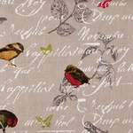 Ткань для штор OISEAUX 002 NATUREL Carrousel Galleria Arben