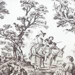 Ткань для штор VALENCAY_TOILE_CHARBON Villandry Warwick