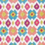 Ткань для штор Thibaut Bimini Ikat Pink and Turquoise F95730
