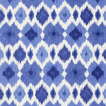 Ткань для штор Thibaut Bimini Ikat Blue and White F95732