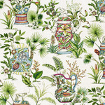 Ткань для штор Thibaut Tropical Fantasy Cream F95768