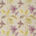Ткань для штор Thibaut Lucala Embroidery Plum and Flax W75700