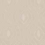Ткань для штор Thibaut Balboa Dots Embroidery White on Flax W75703