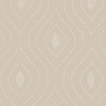 Ткань для штор Thibaut Balboa Dots Embroidery White on Flax W75703