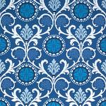 Ткань для штор Thibaut Banyan Embroidery Navy W764102