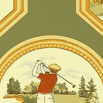 Ткань для штор F96301 Castle Pine Thibaut