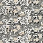 Ткань для штор Thibaut Luzon Grey-Black (F936108)