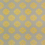 Ткань для штор Thibaut Halie Embroidery Grey-Lemon (W736100)