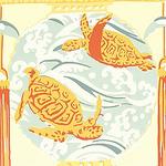Ткань для штор F95314 Tea House Thibaut